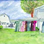 Amish Clothesline by David Noyes