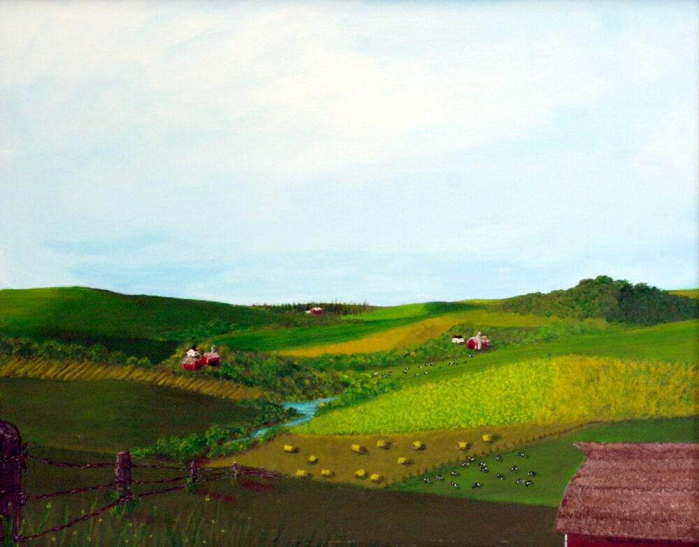Northeast Iowa Farmland by Helen Lyness