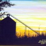 Grain Bin Sunset by Kimberly Fuller