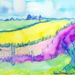 Watercolor Field by Susan Davisson
